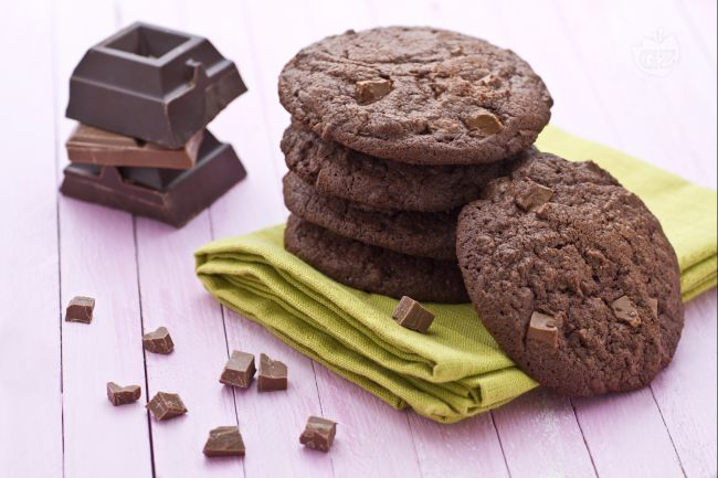 Ricetta double chocolate chip cookies