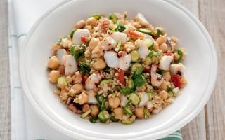 Ricetta insalata di bulghur con polpo alla griglia