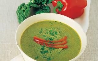 Ricetta vellutata di pollo, spinaci e peperoni