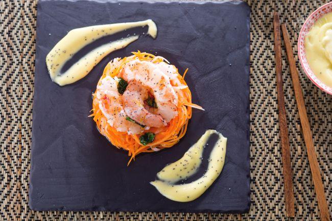 Ricetta insalata di daikon e gamberi
