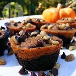 Brownies marmorizzati alla zucca e cioccolato