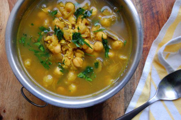 Ricetta zuppa di funghi porcini e ceci
