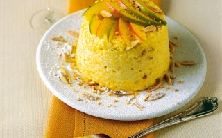 Ricetta charlotte di mango e colomba pasquale