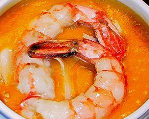 Ricetta zuppa di zucca, baccalà e gamberoni