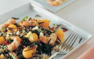 Ricetta insalata di riso e gamberoni piccanti