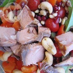 Insalata di salmone croccante