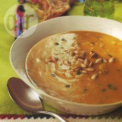 Minestra di zucca e riso al curry