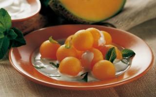 Ricetta palline di melone allo yogurt profumato alla menta ...