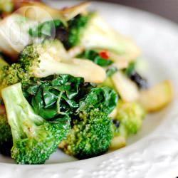 Broccoli e cavolo nero in padella