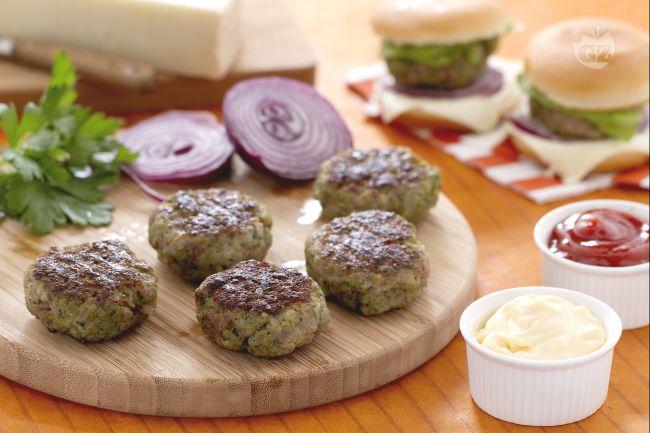 Ricetta miniburgers aromatici con formaggio