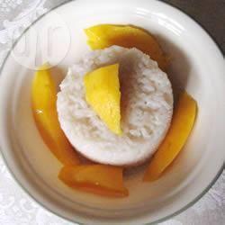 Budino di riso al mango e cocco