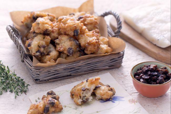 Ricetta frittelle di baccalà con uvetta