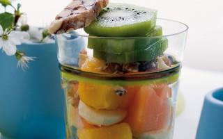 Ricetta misto di frutta al croccante di mandorle