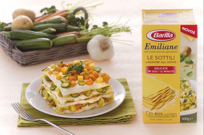 Ricetta lasagne con coriandoli di verdure