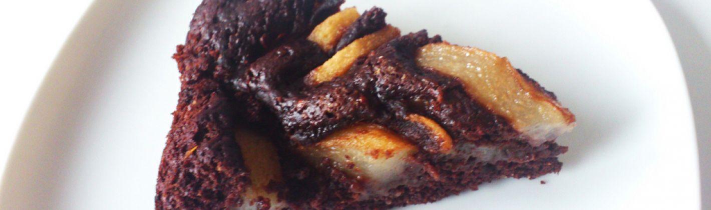 Ricetta torta pere, cioccolato e mandorle