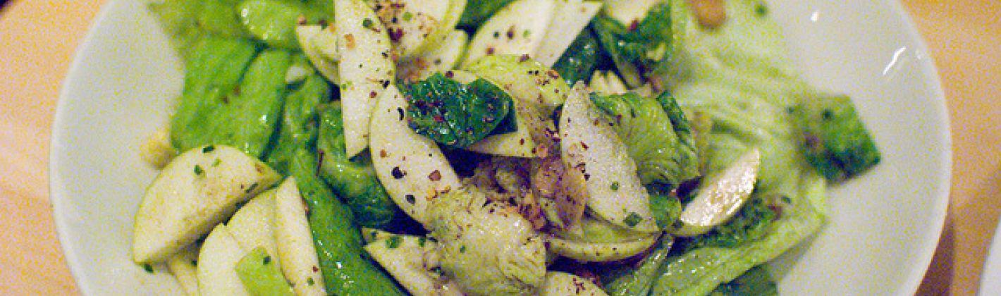 Ricetta insalata con cavoletti di bruxelles, mele verdi e lattuga ...