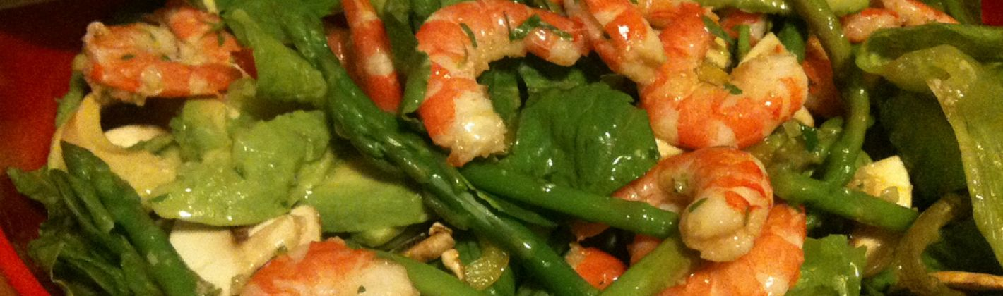 Ricetta insalata di asparagi, gamberetti e champignon
