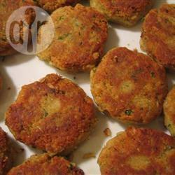 Hamburger vegetariani di ceci e funghi