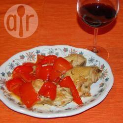 Pollo arrosto con peperoni di carmagnola