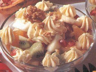 Ricetta macedonia di frutta con crema di ricotta