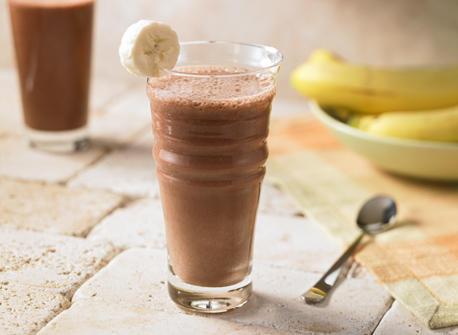 Frullato di cioccolata e banane