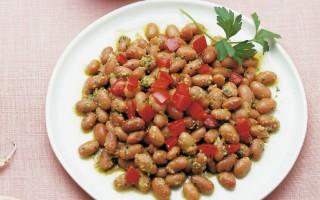 Ricetta borlotti in insalata rustica