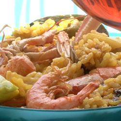 Paella de mariscos (paella ai frutti di mare)
