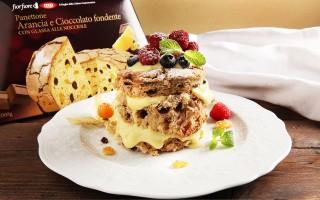 Ricetta tortino di panettone con crema e frutti rossi