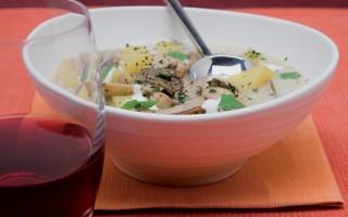 Ricetta minestra di funghi e patate
