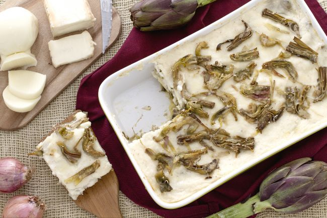 Ricetta lasagne di carciofi ai formaggi