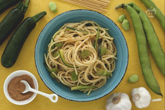 Ricetta pasta fave zucchine e bottarga