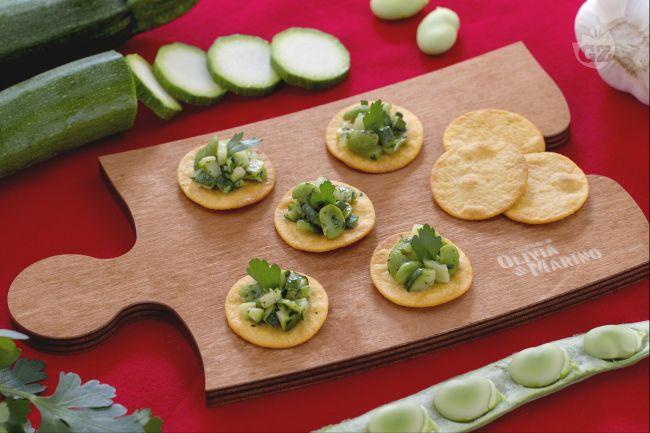 Ricetta spianatine con fave e zucchine trifolate