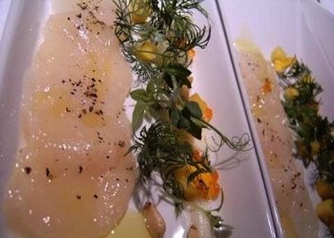 Carpaccio di salmone all'erba cipollina