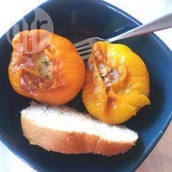 Peperoni ripieni di fontina e speck