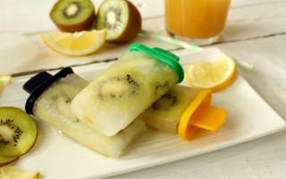 Ricetta ghiaccioli allo zenzero con limone e kiwi