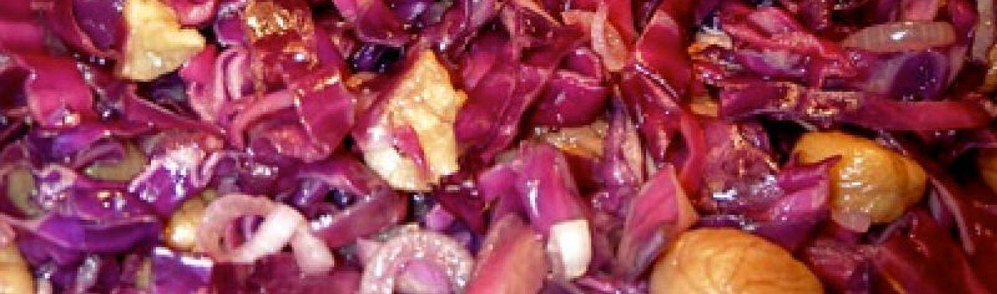 Ricetta insalata di castagne e cavolo rosso