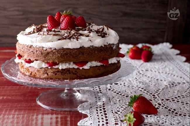 Ricetta torta cioccolato e fragole