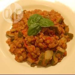 Ragù di lenticchie e zucchine
