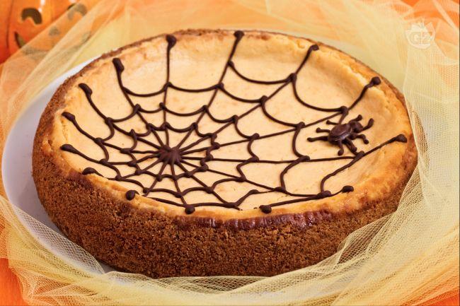 Ricetta cheesecake alla zucca con ragnatela