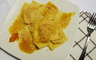Ricetta tortelli di zucca con soffritto al lardo