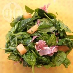 Insalata di spinaci freschi e melone