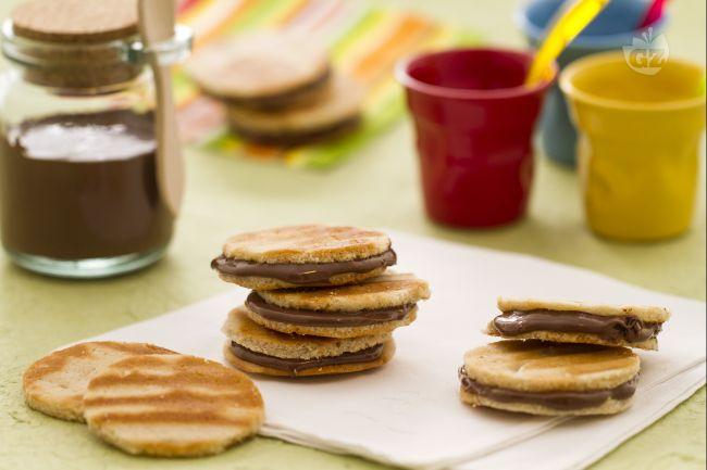 Ricetta waffle sandwich alla nutella