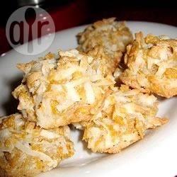 Biscotti senza glutine al cocco e fiocchi di mais