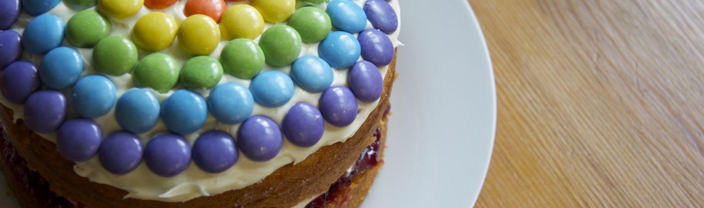 Ricetta torta agli smarties rapida