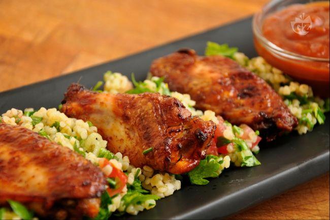 ricetta ali di pollo affumicate con tabouleh - la ricetta di