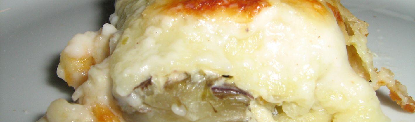 Ricetta cannelloni con robiola e carciofi