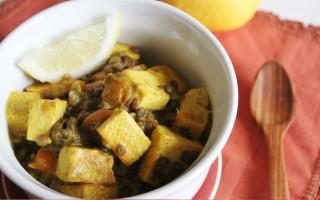 Ricetta tofu e lenticchie alle spezie