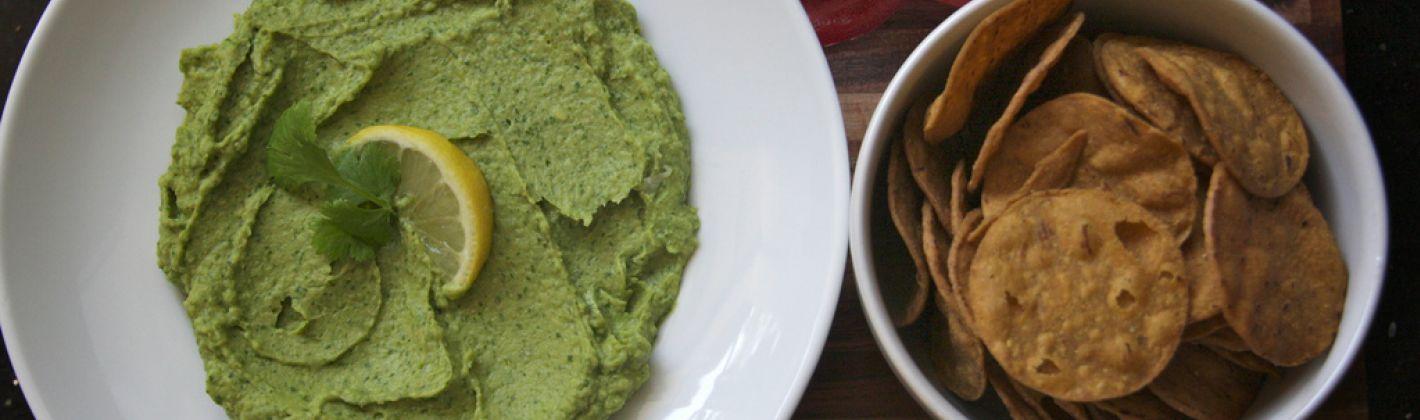 Ricetta hummus con avocado