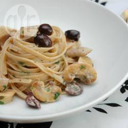 Tagliolini ai funghi e le olive