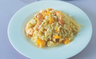 Ricetta risotto con zucca e gamberoni